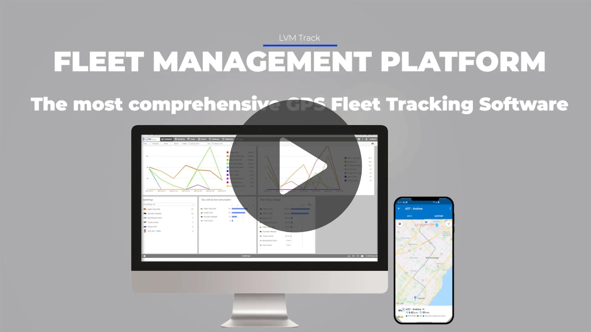 LVM Track fleet management software